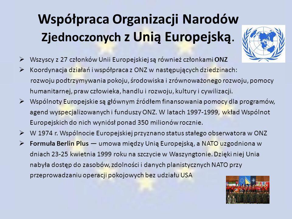 Współpraca Organizacji Narodów Zjednoczonych z Unią Europejską.