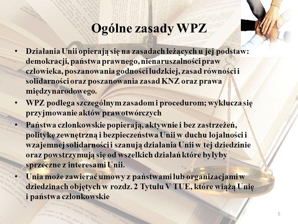 Ogólne zasady WPZ