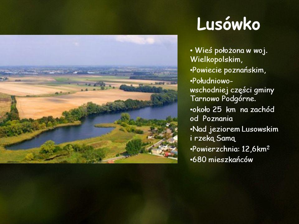 Lusówko Wieś położona w woj. Wielkopolskim, Powiecie poznańskim,