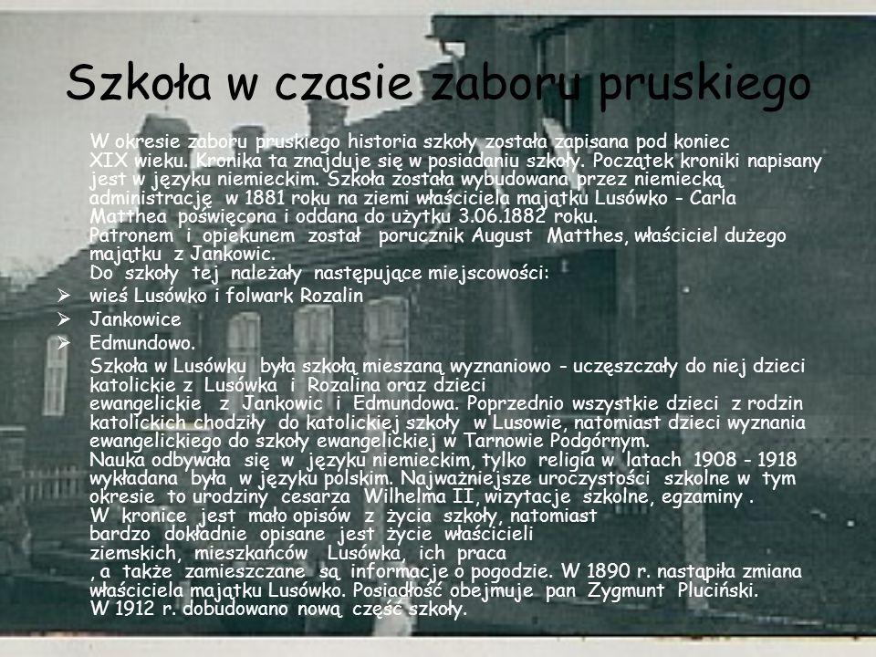 Szkoła w czasie zaboru pruskiego