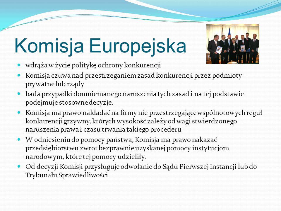 Komisja Europejska wdrąża w życie politykę ochrony konkurencji