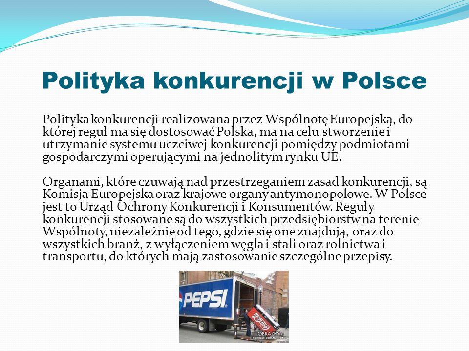Polityka konkurencji w Polsce