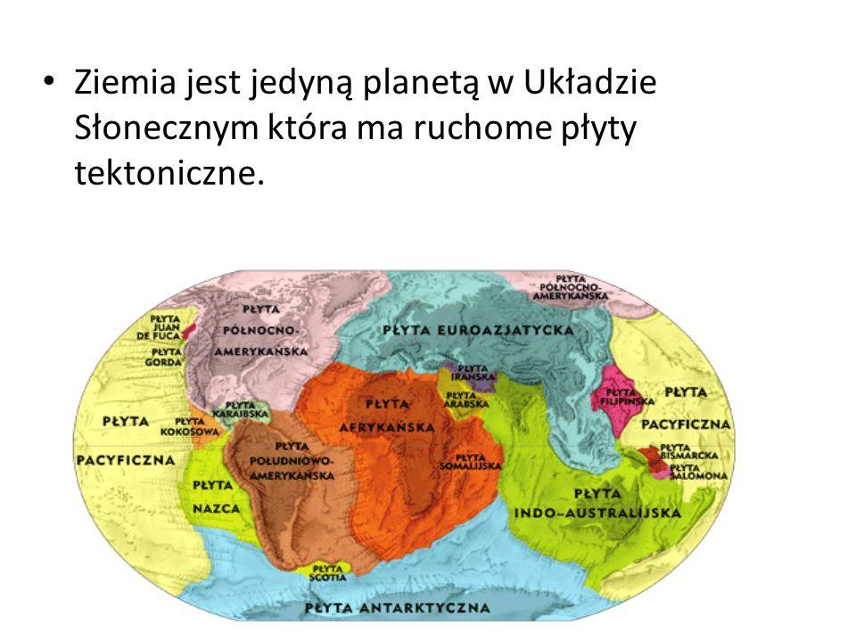 Ziemia jest jedyną planetą w Układzie Słonecznym która ma ruchome płyty tektoniczne.