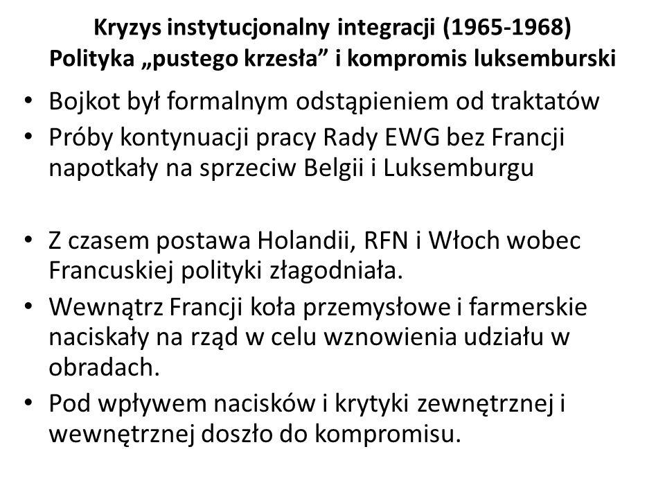 Bojkot był formalnym odstąpieniem od traktatów