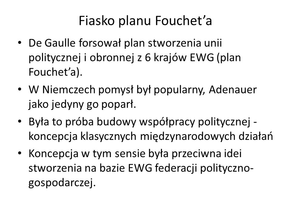 Fiasko planu Fouchet'a