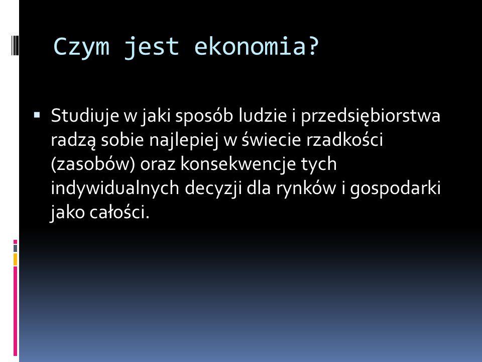 Czym jest ekonomia