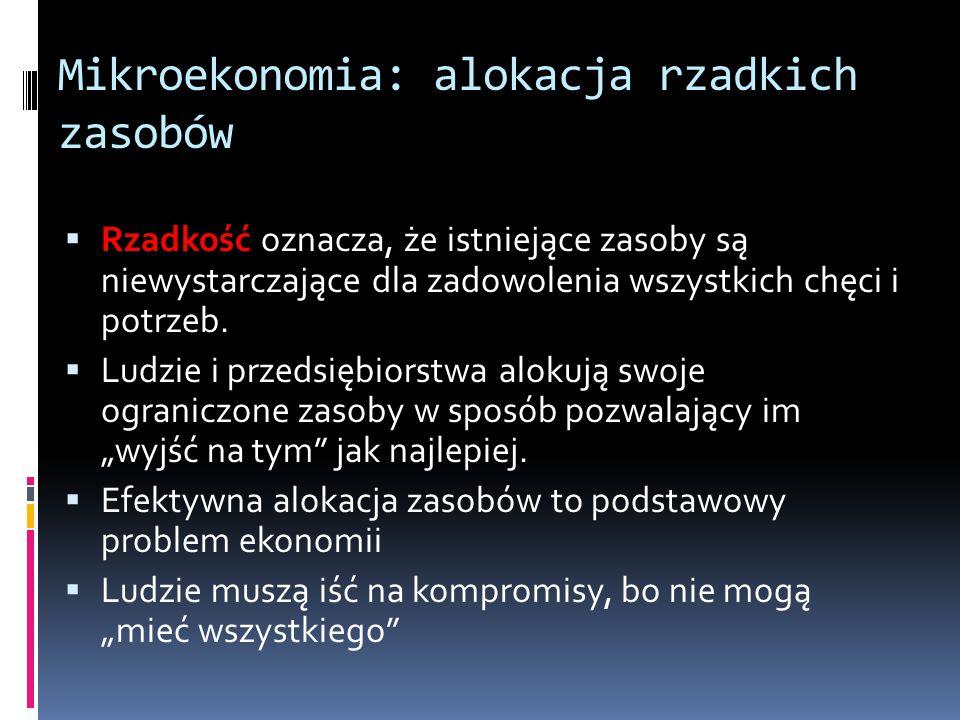 Mikroekonomia: alokacja rzadkich zasobów