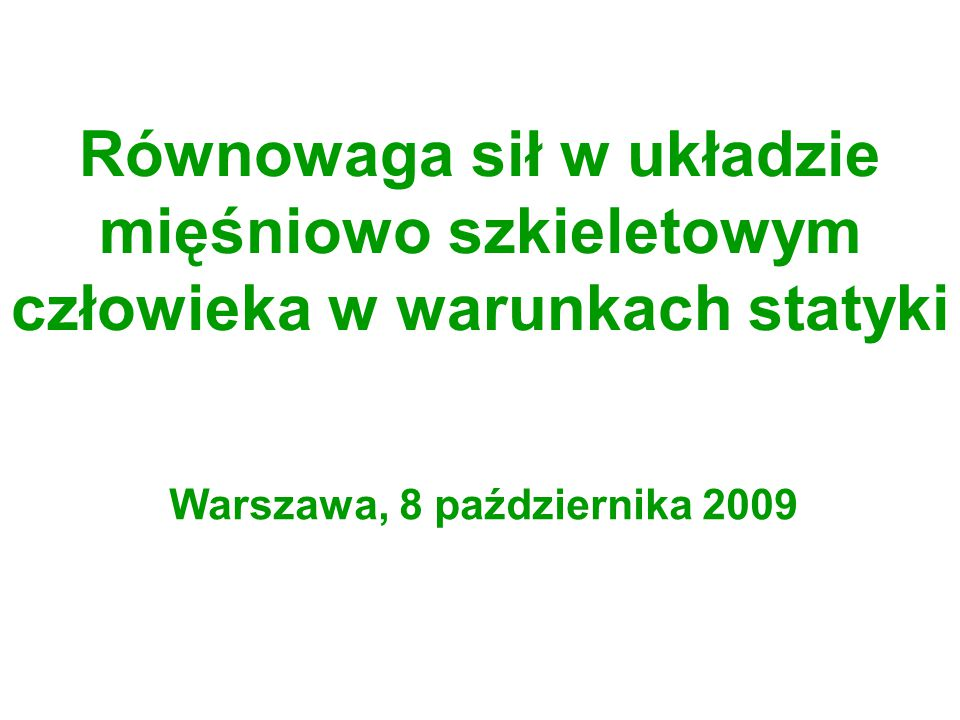 Warszawa, 8 października 2009