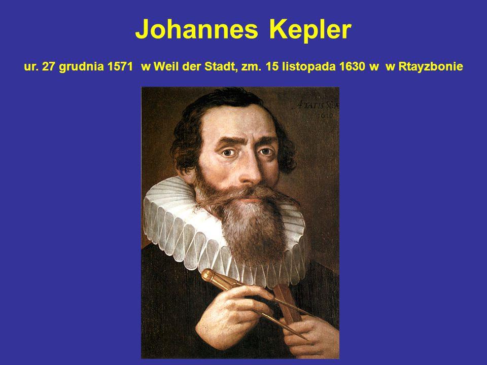 Johannes Kepler ur. 27 grudnia 1571 w Weil der Stadt, zm