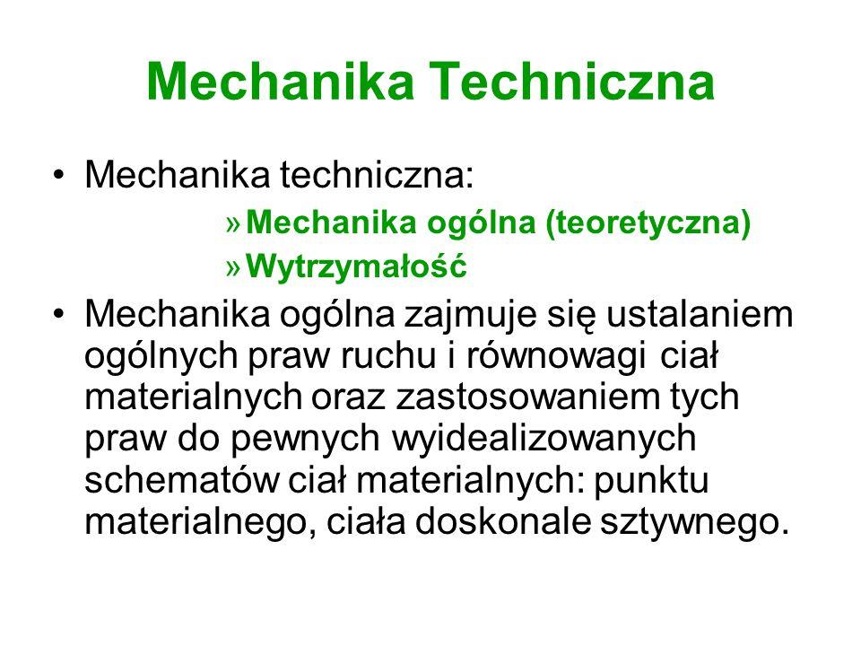 Mechanika Techniczna Mechanika techniczna: