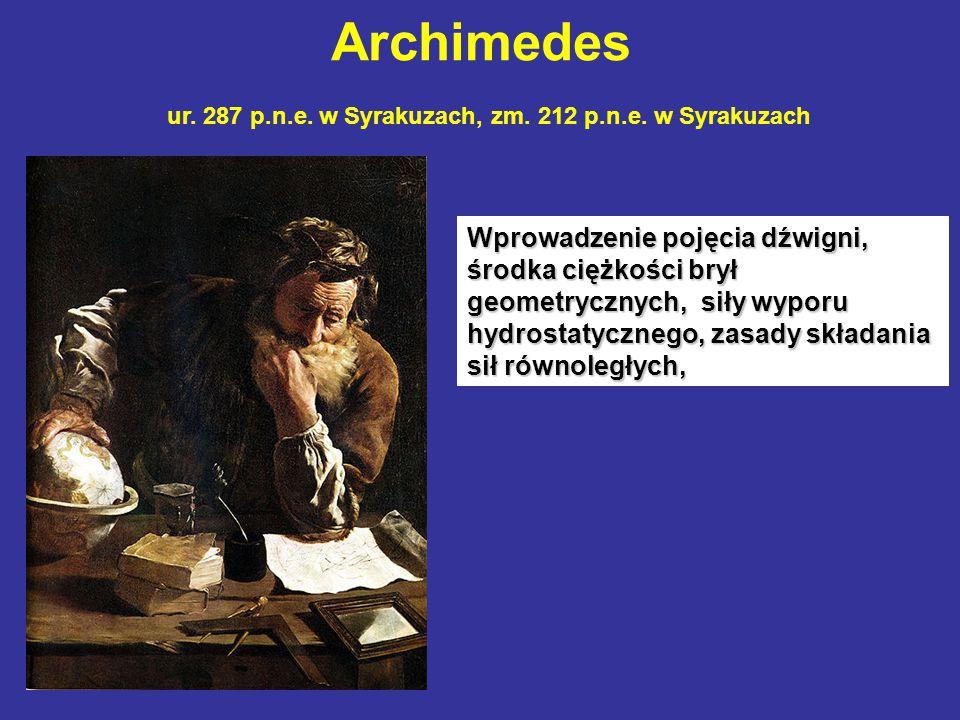 Archimedes ur. 287 p.n.e. w Syrakuzach, zm. 212 p.n.e. w Syrakuzach