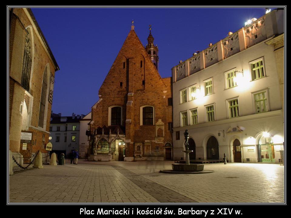 Plac Mariacki i kościół św. Barbary z XIV w.