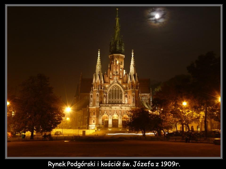 Rynek Podgórski i kościół św. Józefa z 1909r.