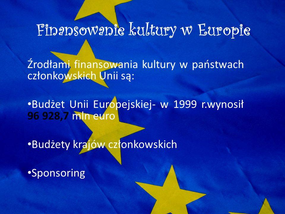 Finansowanie kultury w Europie