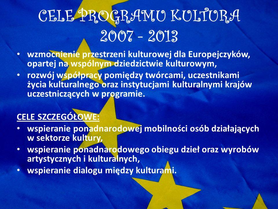 CELE PROGRAMU KULTURA 2007 - 2013