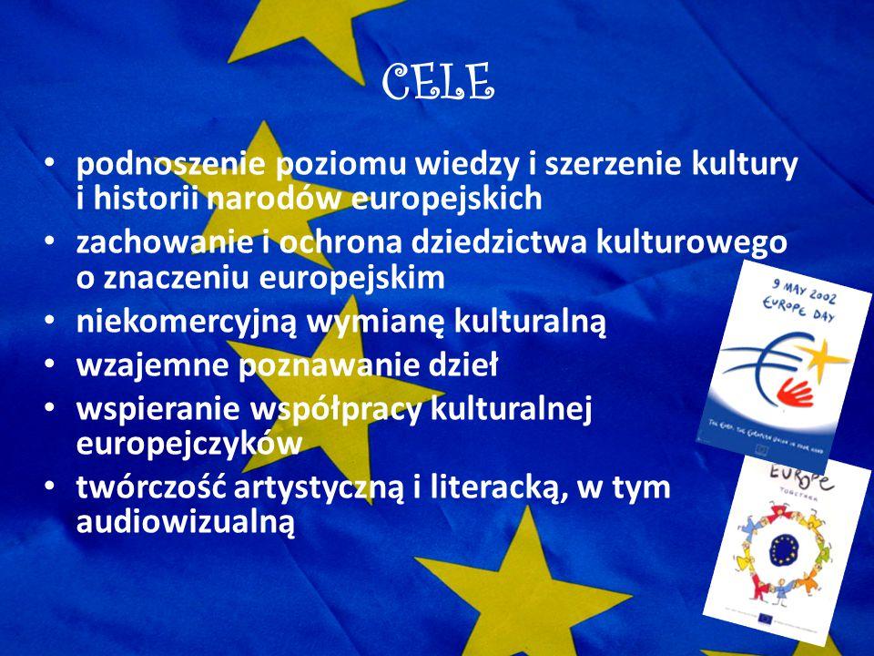 CELE podnoszenie poziomu wiedzy i szerzenie kultury i historii narodów europejskich.