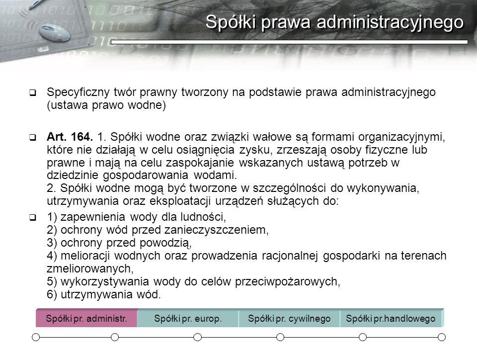 Spółki prawa administracyjnego