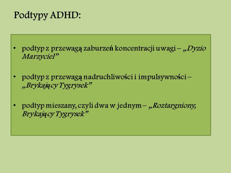 Podtypy ADHD: Podtypy ADHD: