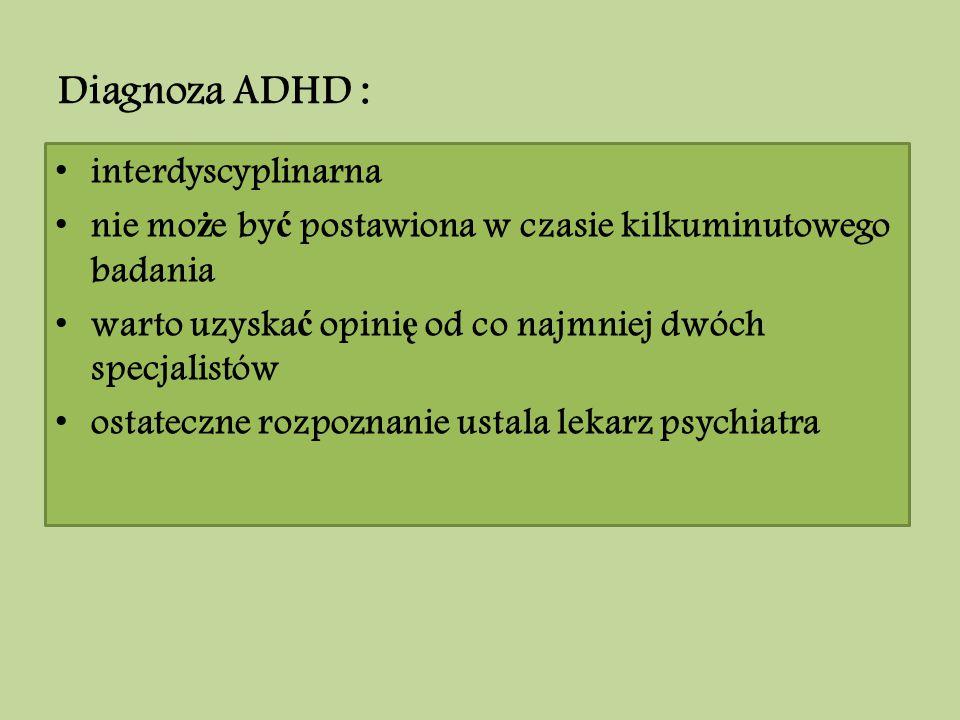 Diagnoza ADHD : interdyscyplinarna
