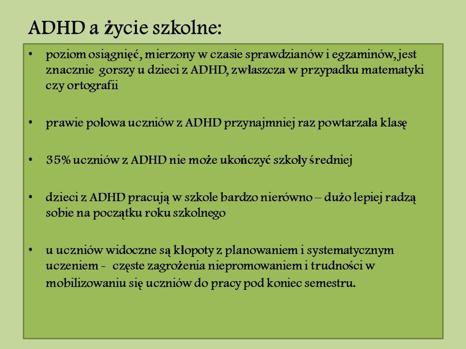 ADHD a życie szkolne: