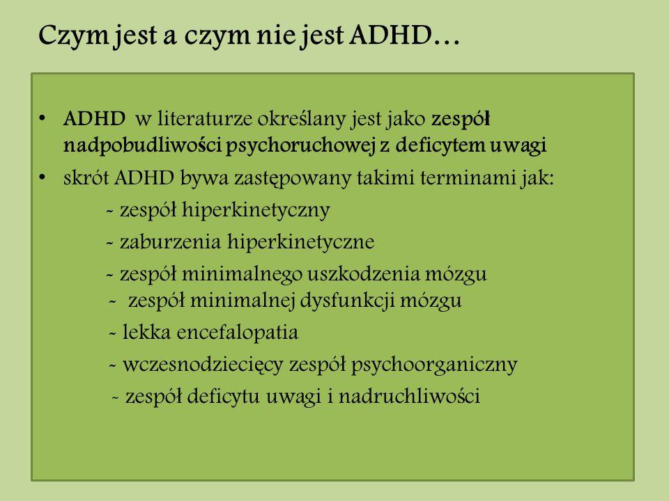 Czym jest a czym nie jest ADHD…
