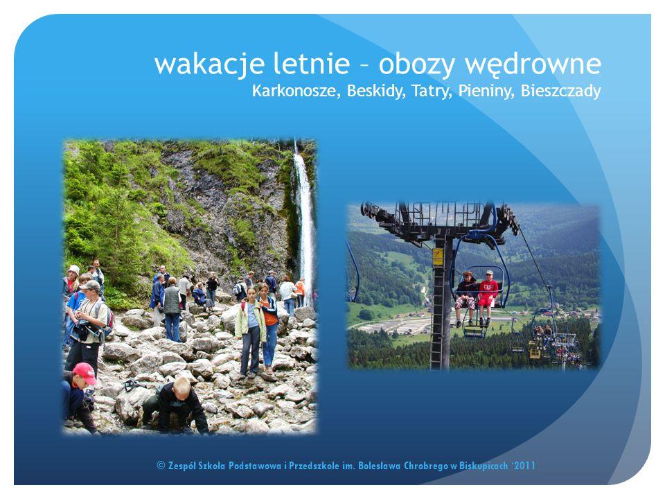 wakacje letnie – obozy wędrowne Karkonosze, Beskidy, Tatry, Pieniny, Bieszczady
