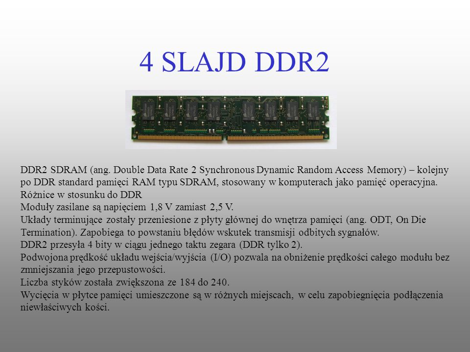 4 SLAJD DDR2