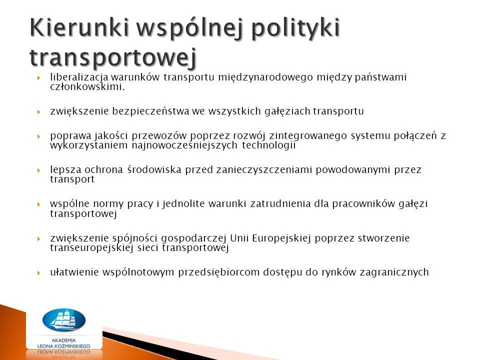 Kierunki wspólnej polityki transportowej