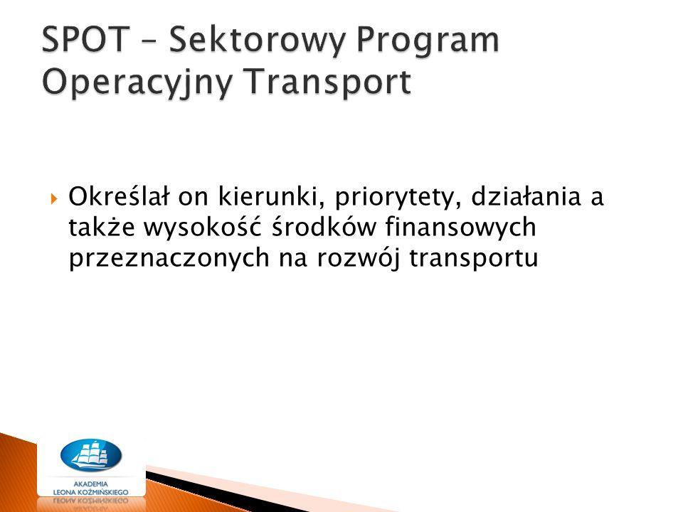 SPOT – Sektorowy Program Operacyjny Transport