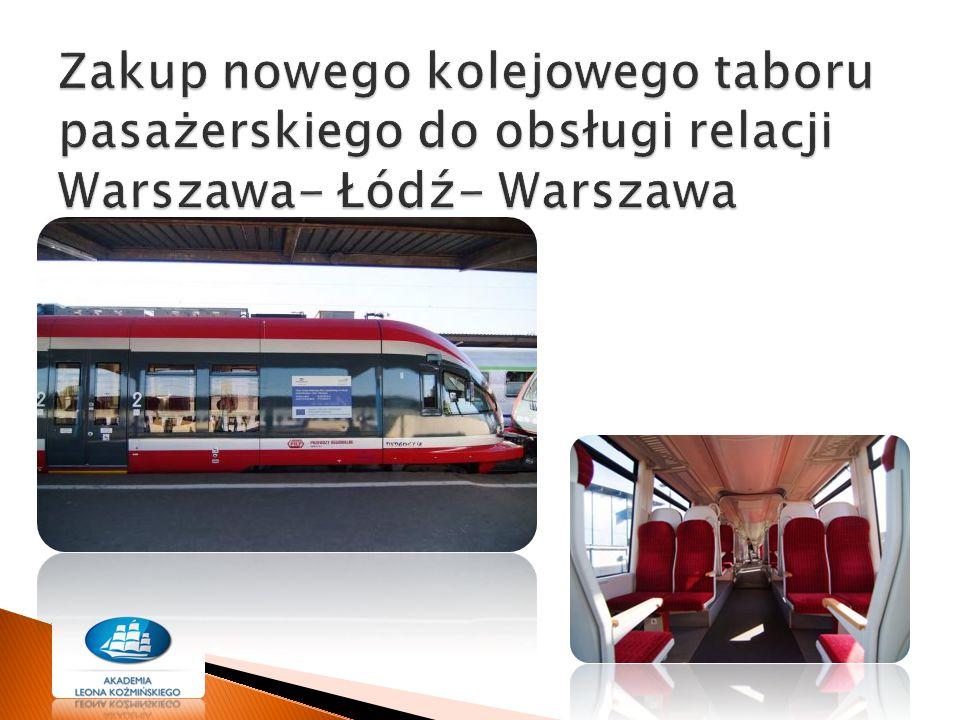 Zakup nowego kolejowego taboru pasażerskiego do obsługi relacji Warszawa- Łódź- Warszawa