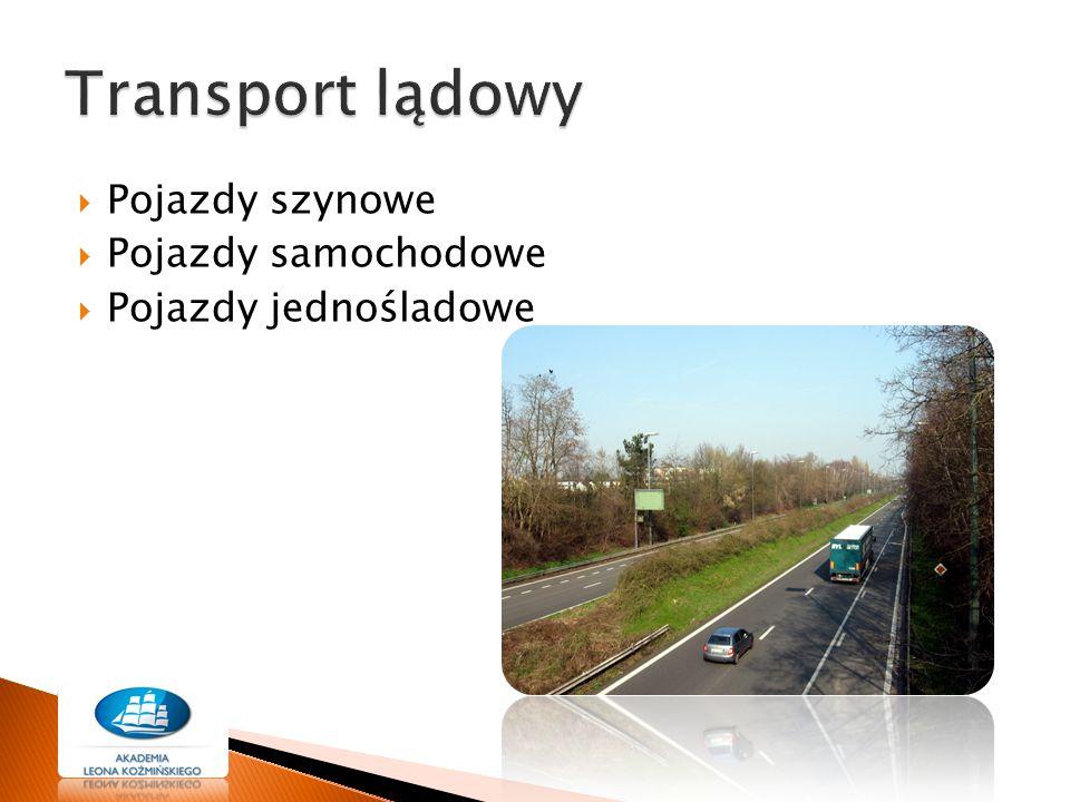 Transport lądowy Pojazdy szynowe Pojazdy samochodowe