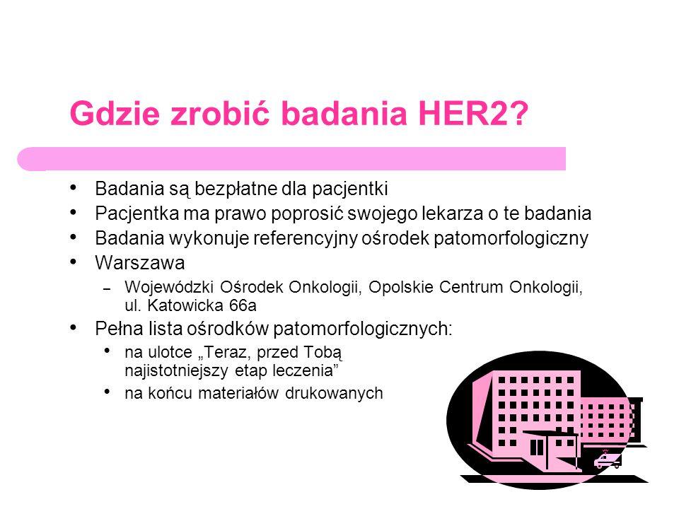 Gdzie zrobić badania HER2