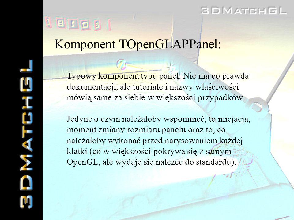Komponent TOpenGLAPPanel: