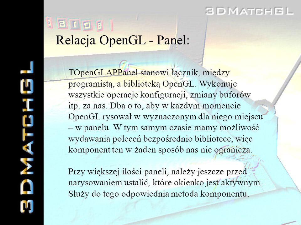 Relacja OpenGL - Panel: