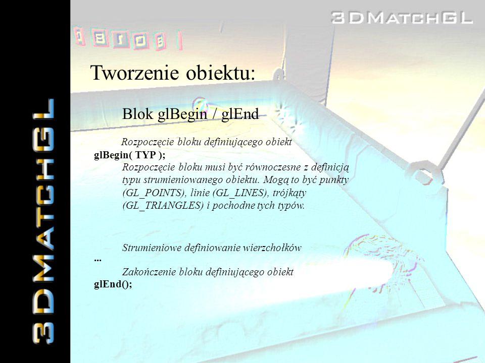 Tworzenie obiektu: Blok glBegin / glEnd