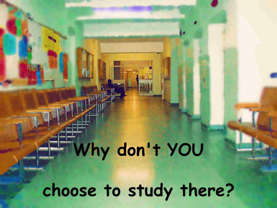 Why don t YOU choose to study there