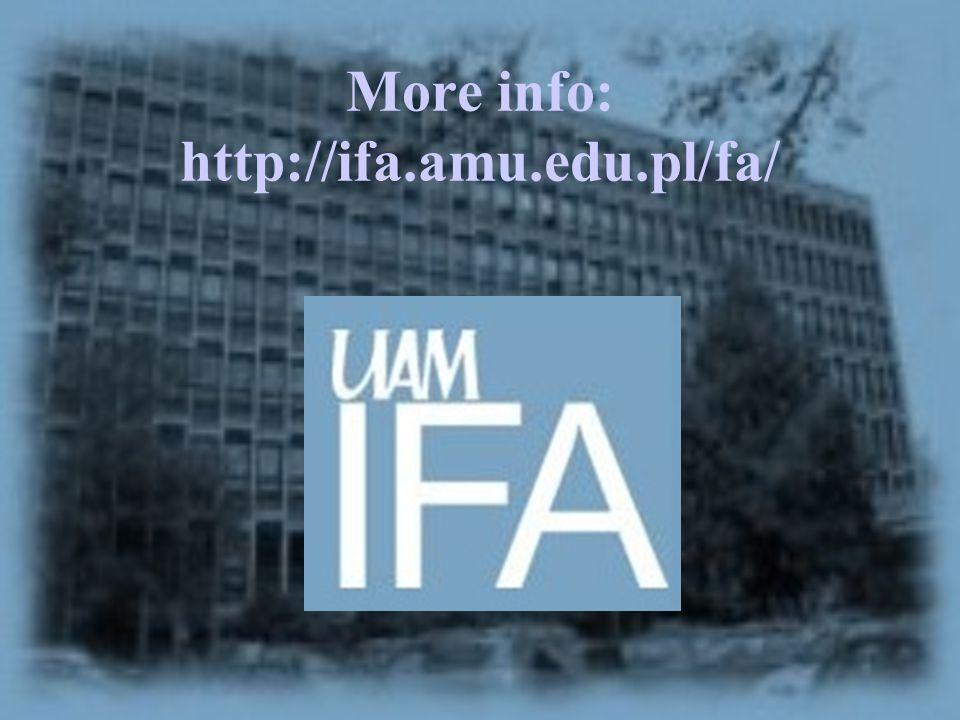 More info: http://ifa.amu.edu.pl/fa/