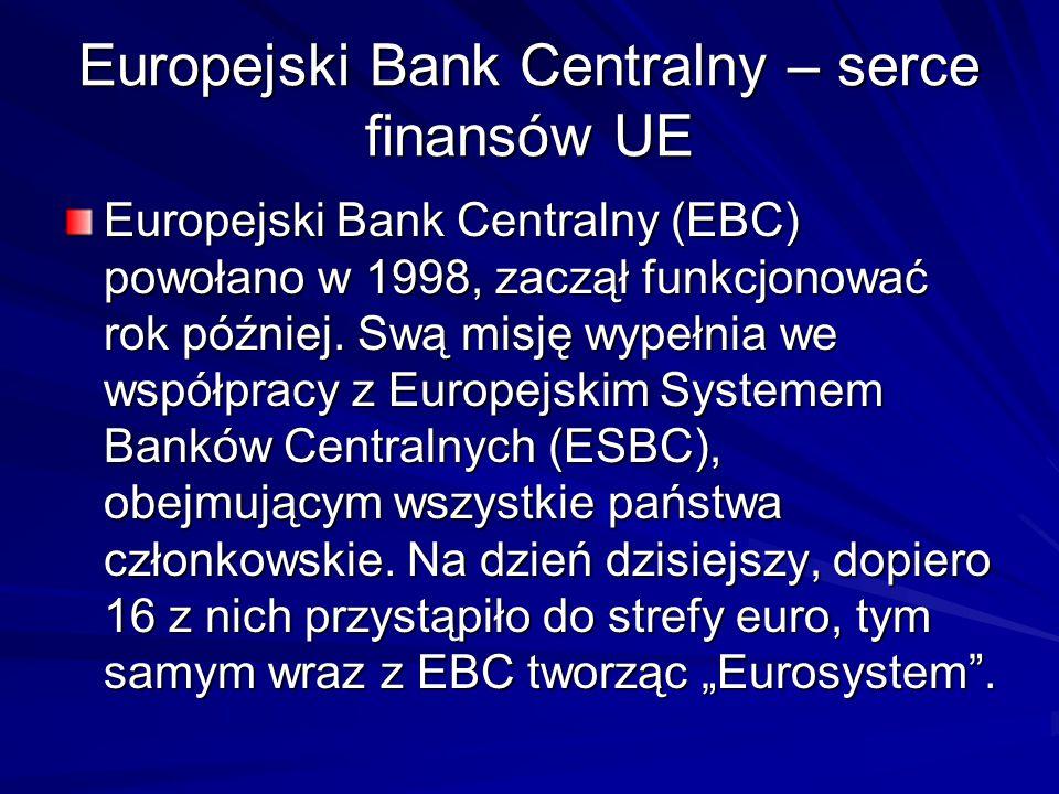Europejski Bank Centralny – serce finansów UE