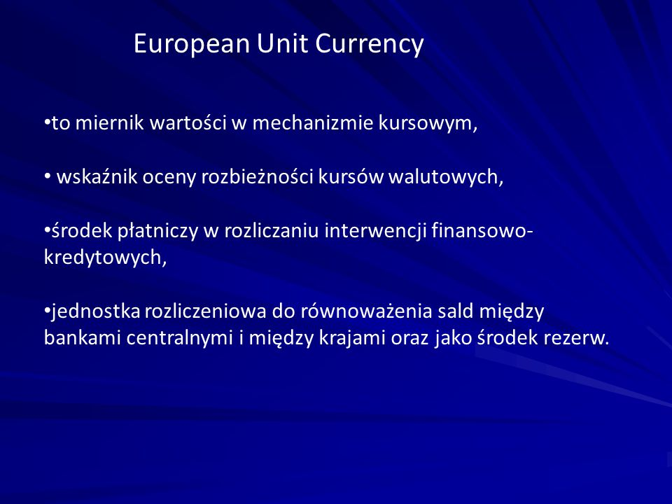 European Unit Currency