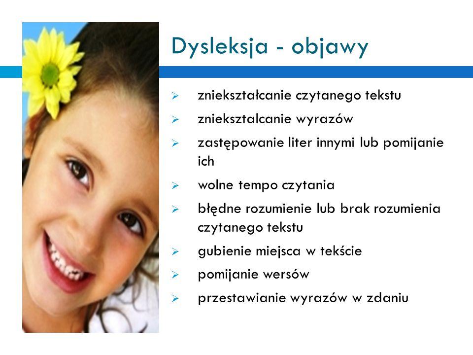 Dysleksja - objawy zniekształcanie czytanego tekstu