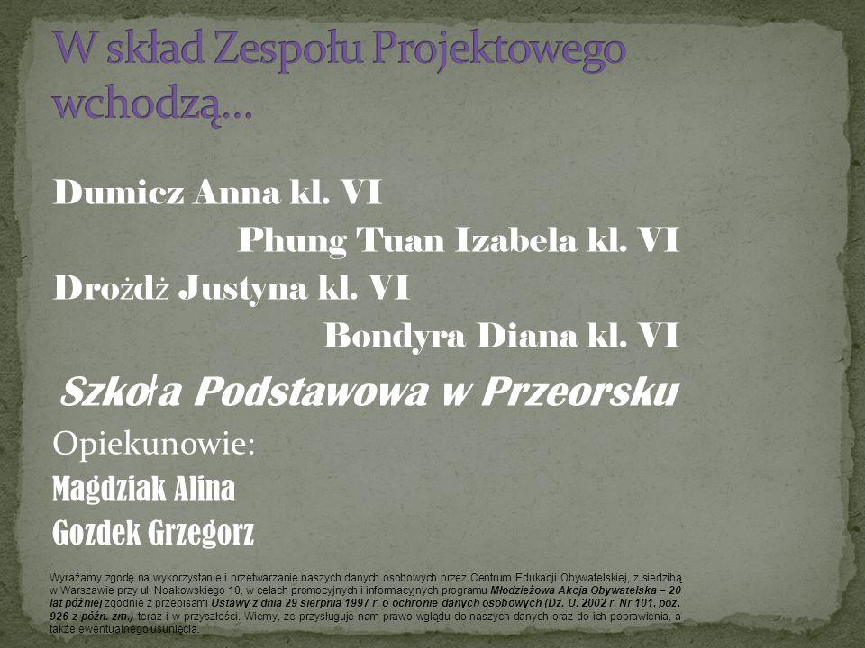 W skład Zespołu Projektowego wchodzą…