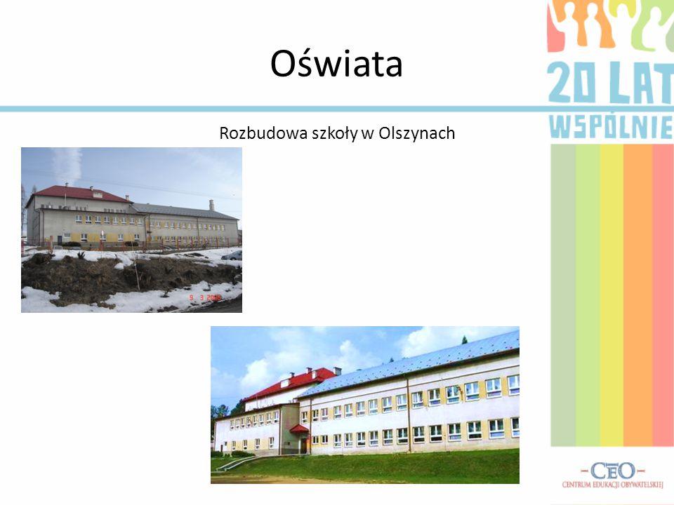 Rozbudowa szkoły w Olszynach