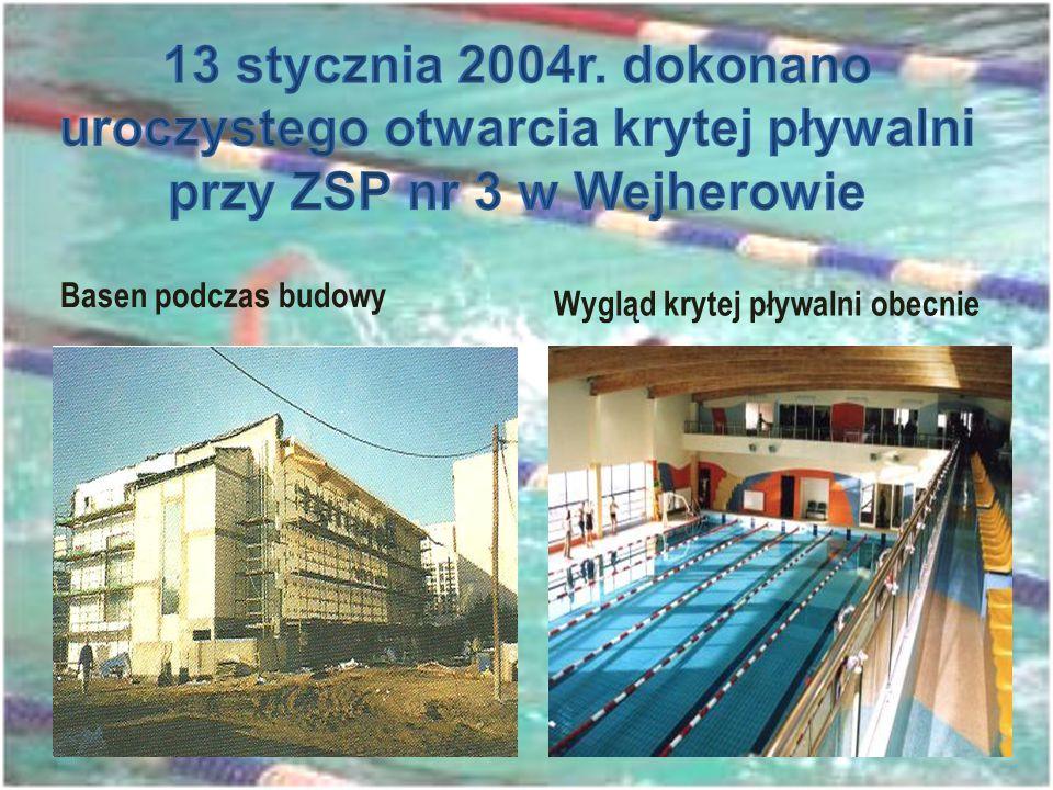 13 stycznia 2004r. dokonano uroczystego otwarcia krytej pływalni przy ZSP nr 3 w Wejherowie