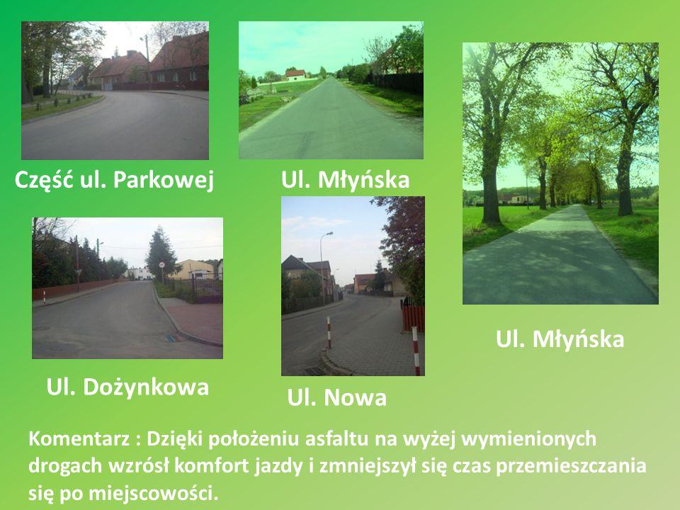 Część ul. Parkowej Ul. Młyńska Ul. Młyńska Ul. Dożynkowa Ul. Nowa