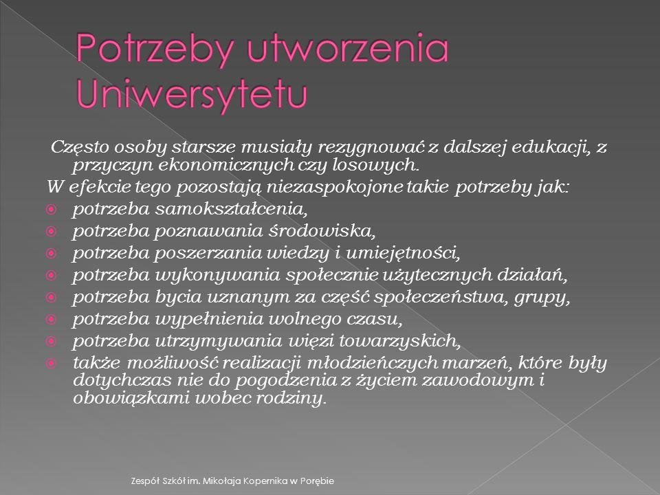Potrzeby utworzenia Uniwersytetu