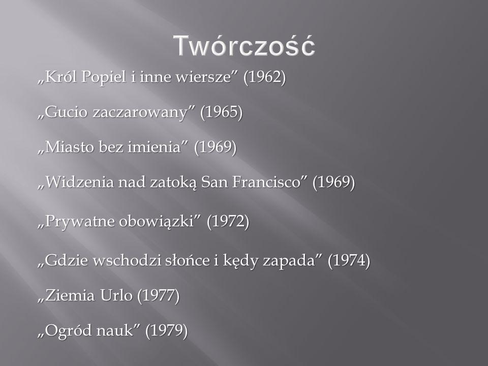 """Twórczość """"Król Popiel i inne wiersze (1962)"""