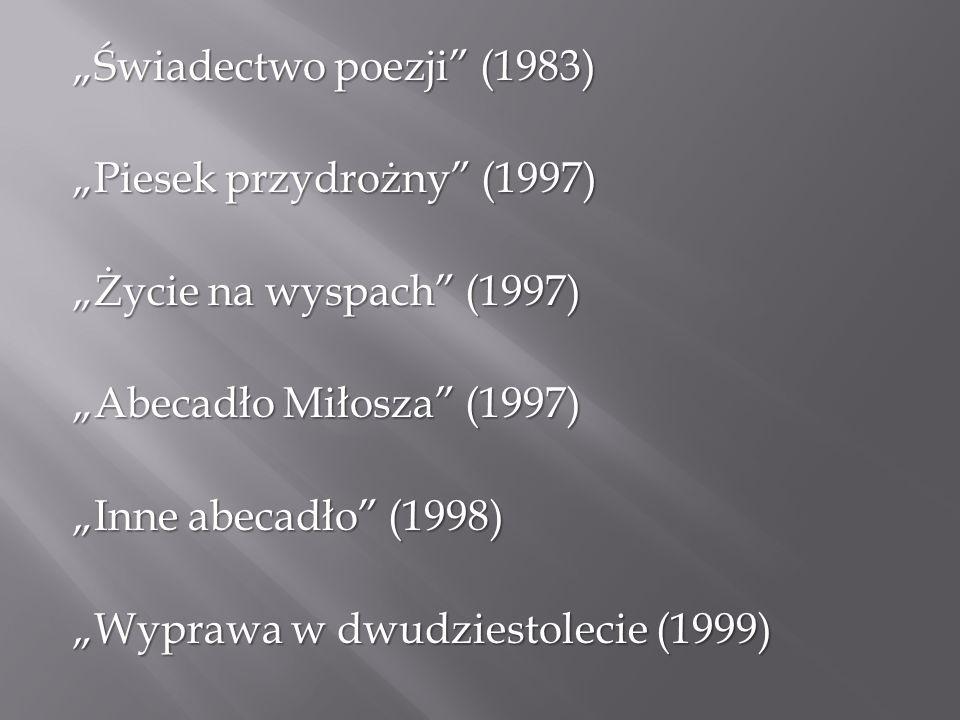 """""""Świadectwo poezji (1983)"""