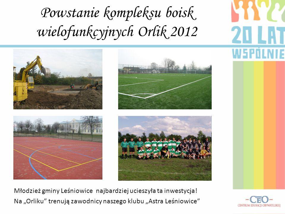 Powstanie kompleksu boisk wielofunkcyjnych Orlik 2012