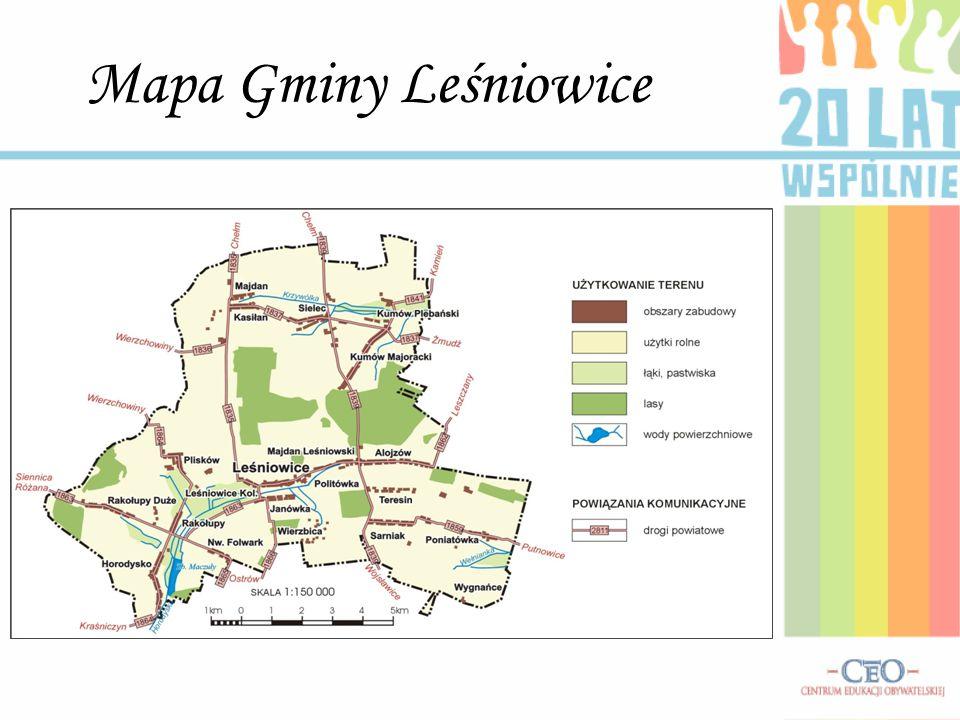 Mapa Gminy Leśniowice
