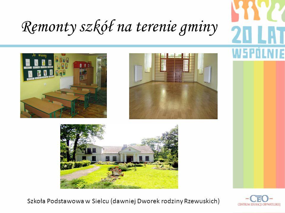 Remonty szkół na terenie gminy